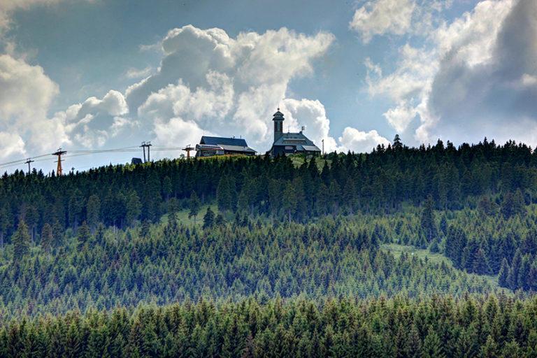 Der Fichtelberg in Kurort Oberwiesenthal.