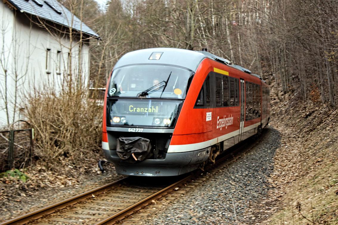 Für den Erhalt der Bahnstrecken im Erzgebirge.