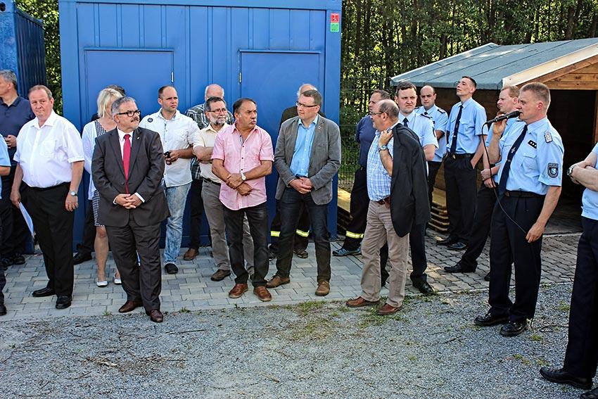 Einweihung des dezentralen Feuerwehr-Übungsstandort in Thermalbad Wiesenbad/OT Schönfeld.