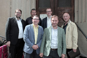 Der Sozialarbeitskreis auf Sommertour bei der Malteser-Dienststelle in Annaberg-Buchholz.