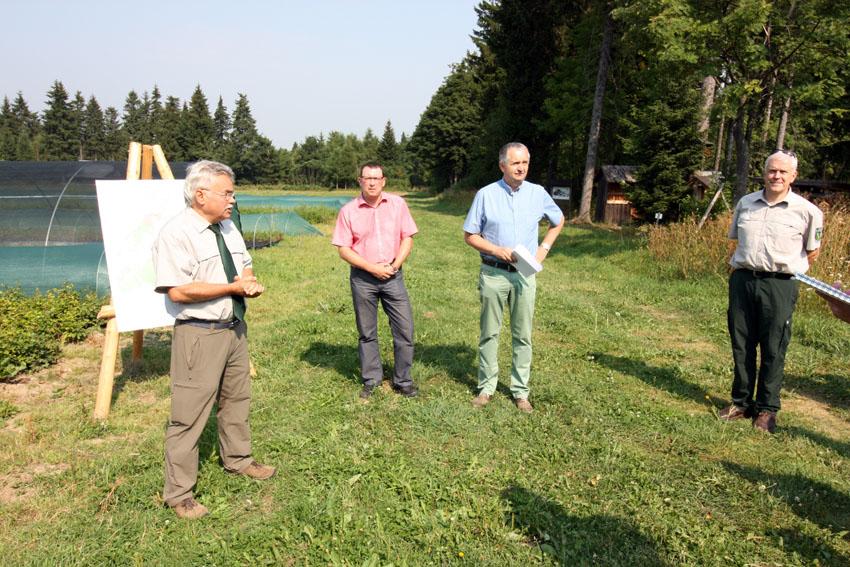 Umwelt- und Landwirtschaftsminister Thomas Schmidt zu Gast in Oberwiesenthal. Foto: Dieter Flade