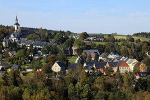 Blick auf Jöhstadt.