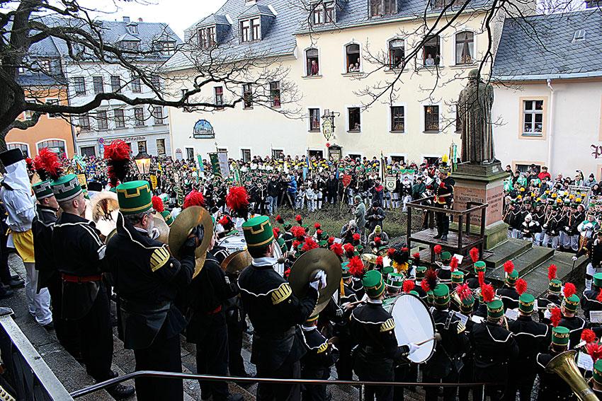 Große Abschlussbergparade 2014 in Annaberg-Buchholz.