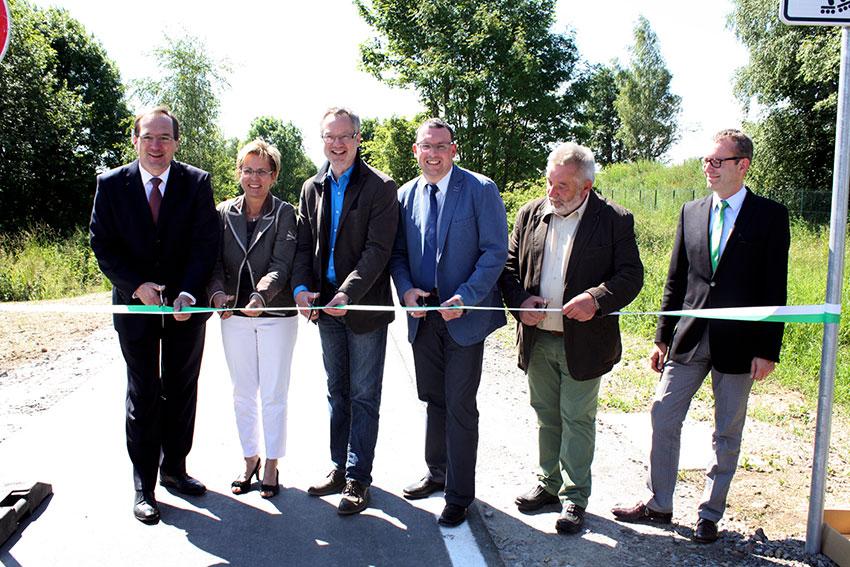 Eröffung des Radweges Annaberg-Buchholz - Kühberg.