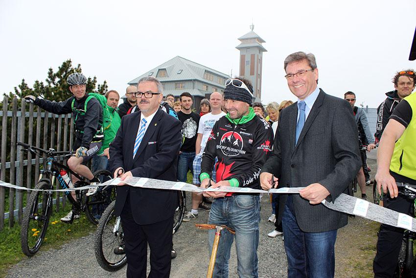 Eröffnung des Stoneman auf dem Fichtelberg.