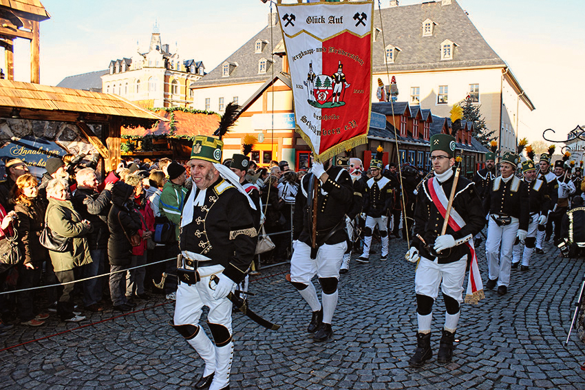 Bergparade in Annaberg-Buchholz.