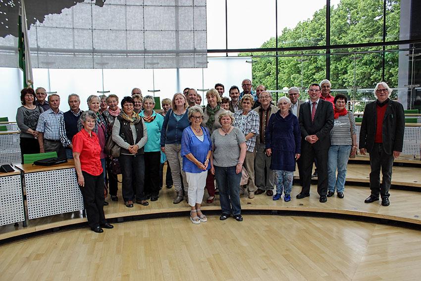 Besuchergruppe aus dem Wahlkreis im Sächsischen Landtag zu Gast.