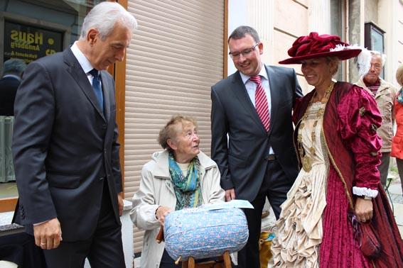 Ministerpräsident Stanislaw Tillich in Annaberg-Buchholz zu Gast.