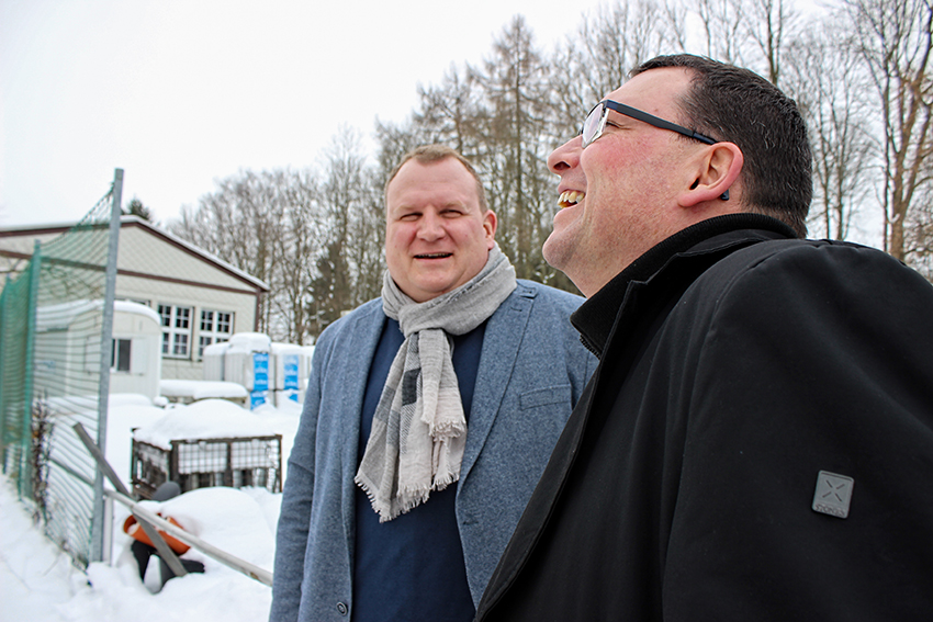 Ronny Wähner zum Kommunaltag in Gelenau.