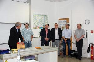 Justin Wright berichtet in Gelenau über sein Praktikum in Dittersdorf.