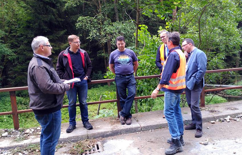Bauarbeiten zwischen Jöhstadt und Steinbach. Foto: Stadtverwaltung Jöhstadt