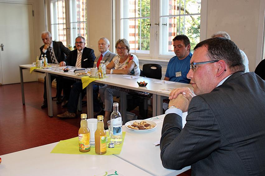 Ministerpräsident Stanislaw Tillich zum Bürgerdialog in Annaberg-Buchholz.