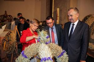 Erntekronenwettbewerb in Burgstädt zum Sächsischen Landeserntedankfest.