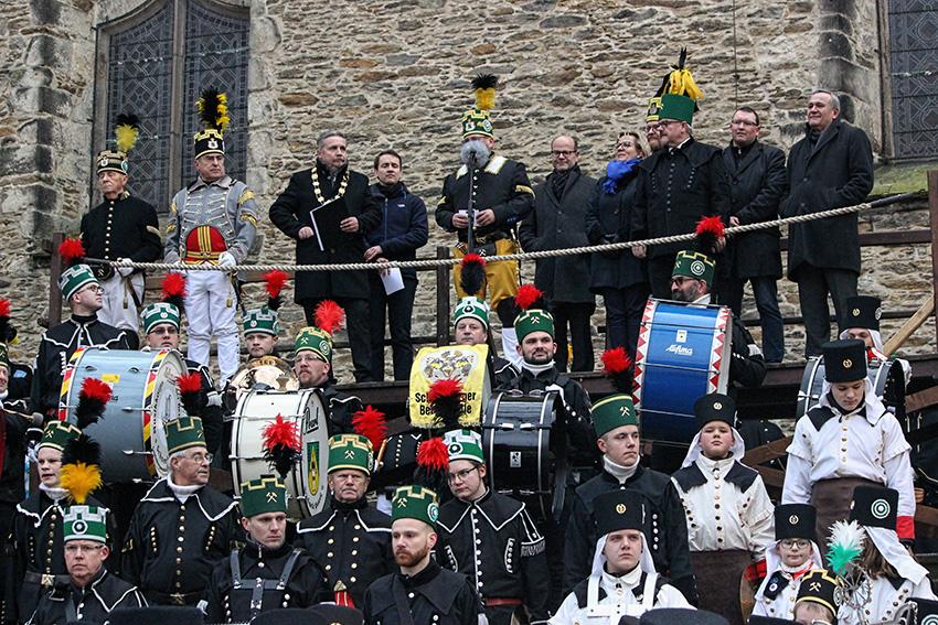 Abschlussbergparade am 23.12. in Annaberg-Buchholz.