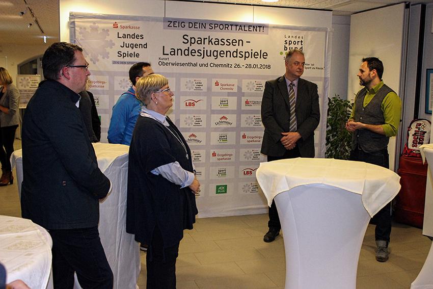 Auftaktveranstaltung der Landesjugendspiele in Oberwiesenthal.