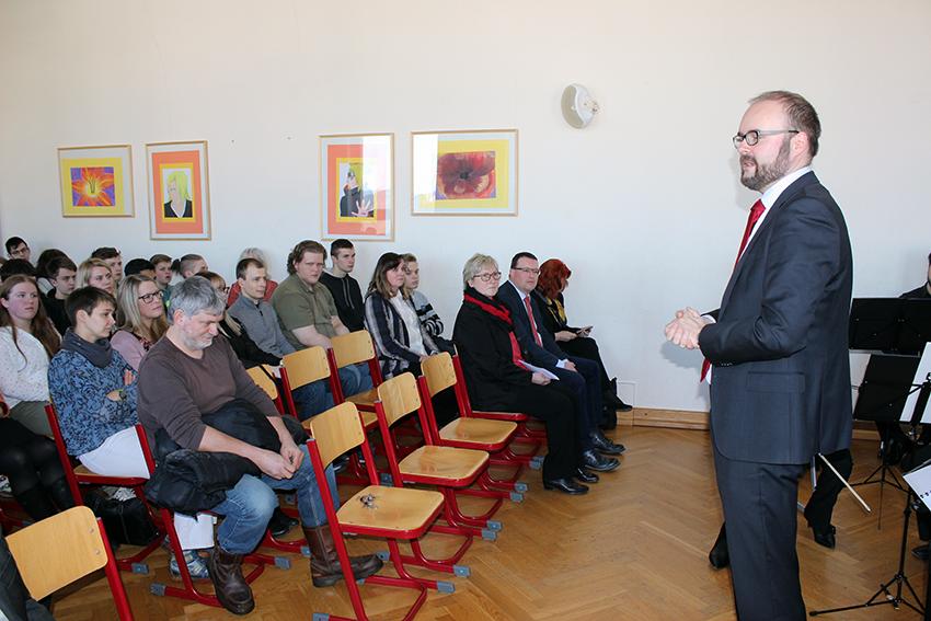 Christian Piwarz in Annaberg-Buchholz.