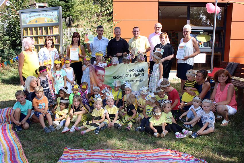 Hohe Auszeichnung für die Kita Löwenzahn in Raschau-Markersbach.