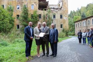 Über 600.000 Euro Fördermittel gab es für den Abriss von Industriebrachen in Thermalbad-Wiesenbad.