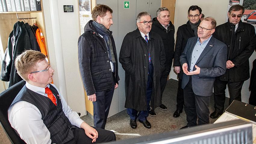Ministerpräsident Michael Kretschmer in Annaberg-Buchholz zu Gast.