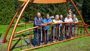"""""""Goldene Brücke"""" in Thermalbad Wiesenbad eingeweiht."""