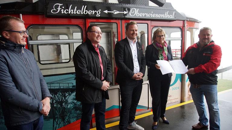 Fördermittelübergabe in Kurort Oberwiesenthal.